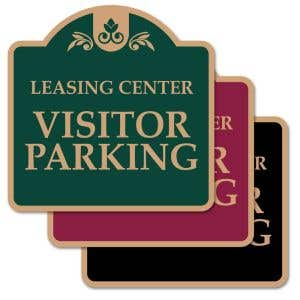 """Visitor Parking Signs - """"Leasing Center"""" Dome"""