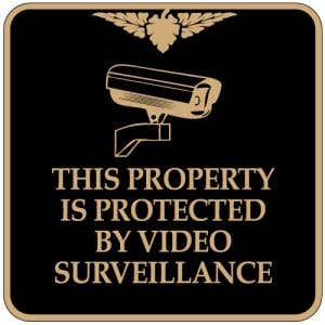 "No Trespassing Signs - ""Video Surveillance"" Square"