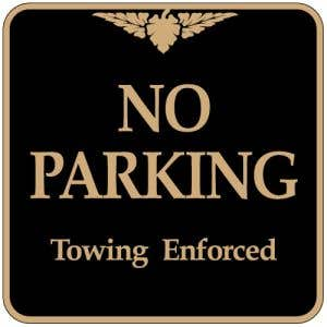 """Parking Signs - """"No Parking"""" Square"""