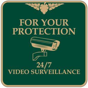 """No Trespassing Signs - """"24 7 Surveillance"""" Square"""