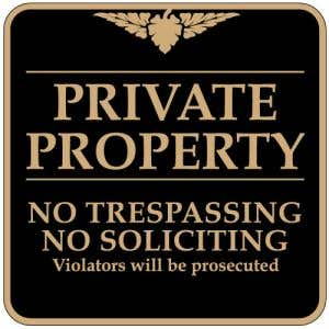 """No Trespassing Signs - """"Private Property"""" Square"""
