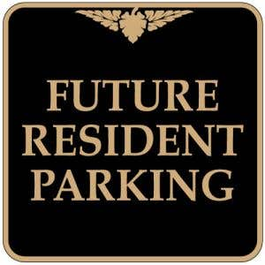 """Visitor Parking Signs - """"Future Resident"""" Square"""