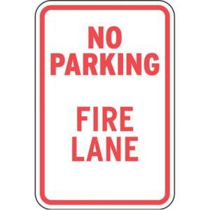 """Fire Lane - """"No Parking Fire Lane"""""""