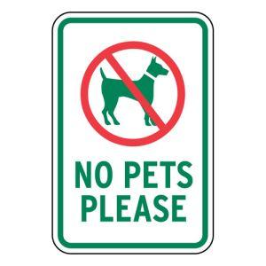 """Pet Area Sign - """"No Pets Please"""""""