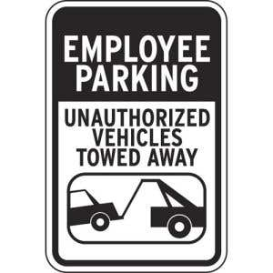 """Parking Signs - """"Employee Parking"""""""
