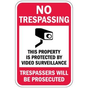 "No Trespassing Signs - ""Trespassers Prosecuted"""