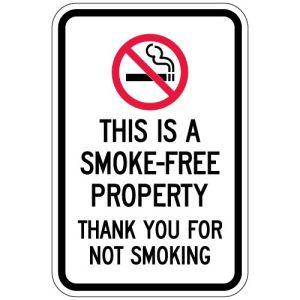 "No Smoking Signs - ""Smoke Free Property"""