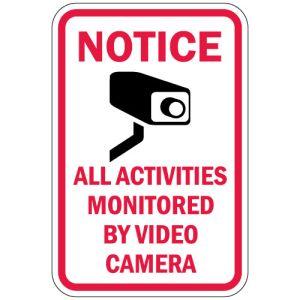 """Surveillance Camera Signs - """"Notice"""""""