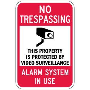"No Trespassing Signs - ""Alarm System"""