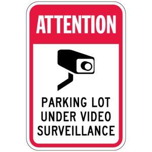 "Surveillance Camera Signs - ""Parking Lot"""
