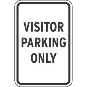 """Visitor Parking Signs - """"Visitor Parking Only"""""""