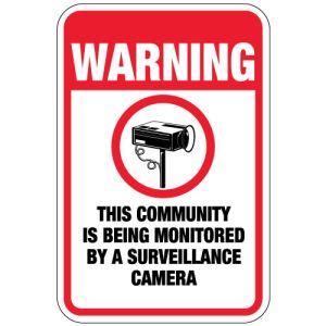 "Surveillance Camera Signs - ""Warning"""