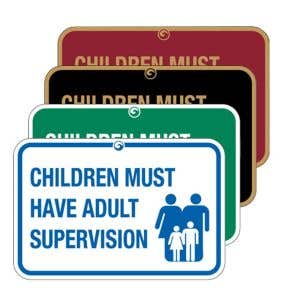 """Pool Signs - """"Children Must Have Adult Supervision"""""""