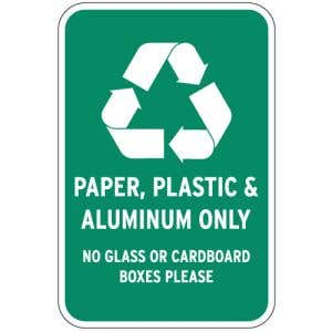 Promote your property's recycling efforts-post recycling signs!