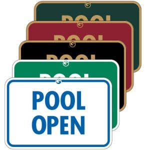 """Pool Signs - """"Pool Open"""""""