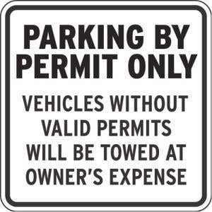 Protect resident's parking spaces!