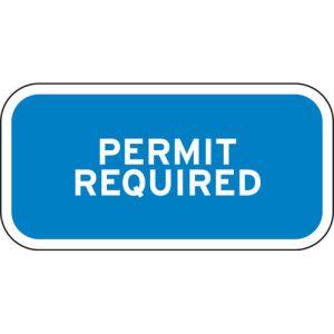 "Handicap Parking Signs - ""Permit Required"""