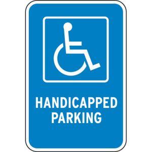 Handicap Parking Signs - Blue