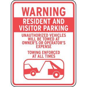 "Visitor Parking Signs - ""Warning"""