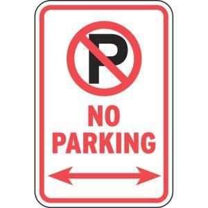 No Parking Signs - No Parking Symbol with Arrows