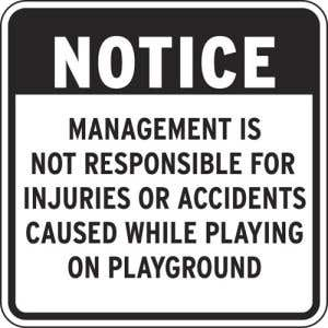 """Playground Rules Sign - """"Notice"""""""