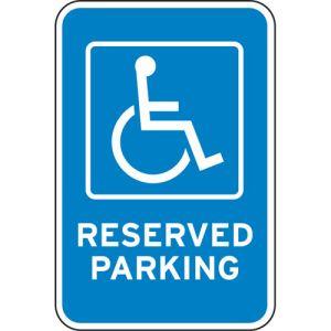 "Handicap Parking Signs - ""Reserved Parking"" Blue"
