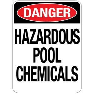 Pool Sign - Hazardous Pool Chemicals