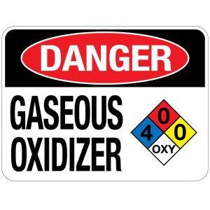 Pool Sign - Gaseous Oxidizer