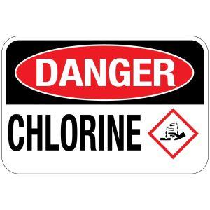 Pool Sign - Chlorine Danger