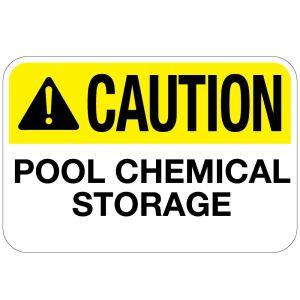 Pool Sign - Pool Chemical Storage