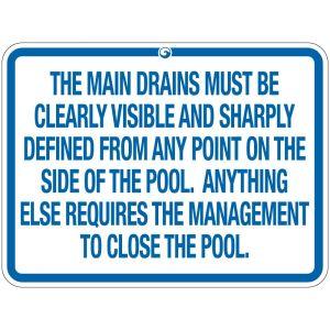 "Pool Sign - ""Main Drains"" - Montana"