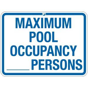 "Pool Sign - ""Pool Capacity"" - Colorado"
