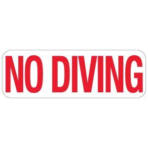 """Pool Sign - """"No Diving"""" - Idaho"""