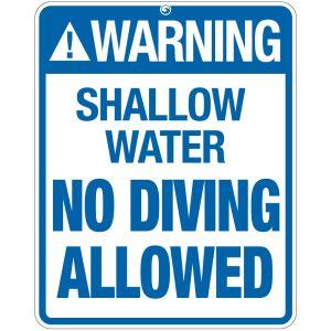 "Pool Sign - ""Warning Shallow Water"""