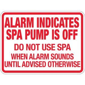 "Pool Sign - ""Spa Alarm"" - Florida"