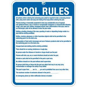 "Pool Sign - ""Pool Rules"" - Colorado"