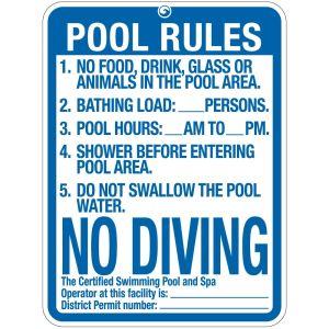 "Pool Sign - ""Pool Rules"" - Washington D.C."