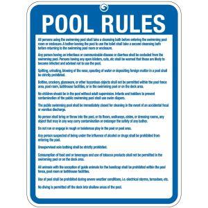 "Pool Sign - ""Pool Rules"" - Hawaii"