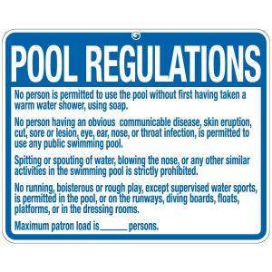 "Pool Sign - ""Pool Regulations"" - Nebraska"