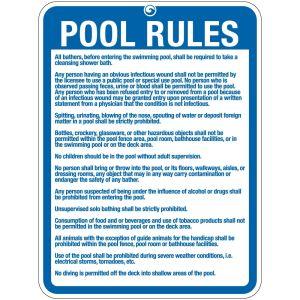 "Pool Sign - ""Pool Rules"" - Ohio"