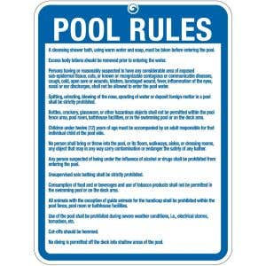 "Pool Sign - ""Pool Rules"" - Oklahoma"