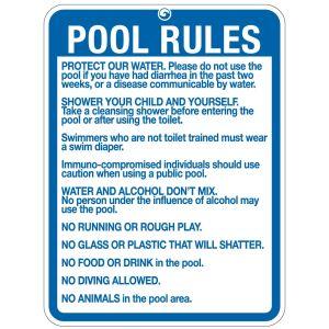"Pool Sign - ""Pool Rules"" - Oregon"