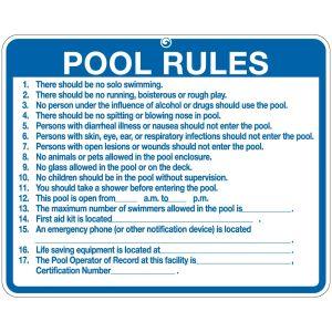 "Pool Sign - ""Pool Rules"" - South Carolina"