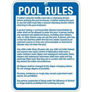 """Pool Sign - """"Pool Rules"""" - Utah"""