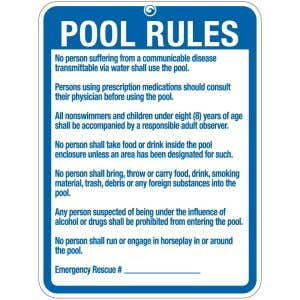 "Pool Sign - ""Pool Rules"" - Wyoming"