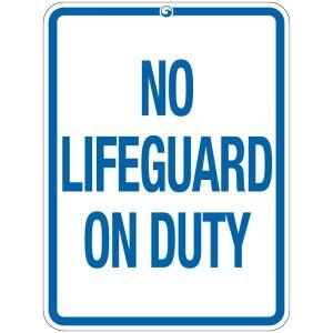"""Pool Sign - """"No Lifeguard"""" - Montana"""