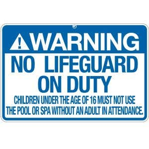 "Pool Sign - ""No Lifeguard"" - Nebraska"