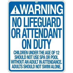 """Pool Sign - """"No Lifeguard"""" - Oklahoma"""
