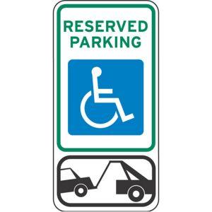 Handicap Parking Signs - Towing Symbol