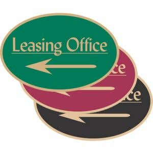 """Directional Signs - """"Leasing"""" Left Arrow - Oval"""